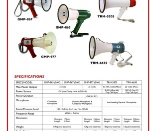 Megaphone Click to view Catalogue